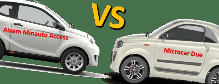 aixam minauto access vs. microcar due