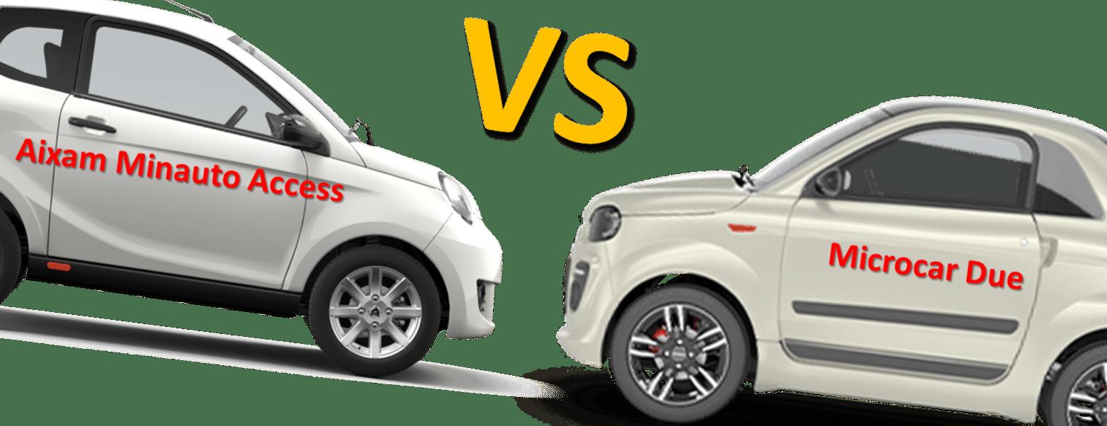 Aixam Minauto Access vs Microcar Due – se enfrentan las marcas líderes