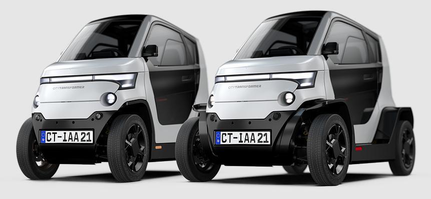 Una de las mejores propuestas urbanas para coche eléctrico. Elegante, ecológico, medidas compactas, anchura variable ¡descubre este concepto en cuadriciclos!